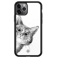 Casimoda iPhone 11 Pro Max glazen hardcase - Peekaboo