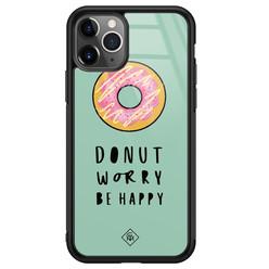 Casimoda iPhone 11 Pro Max glazen hardcase - Donut worry