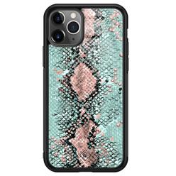 Casimoda iPhone 11 Pro Max glazen hardcase - Baby snake
