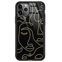 Casimoda iPhone 11 Pro Max glazen hardcase - Abstract faces