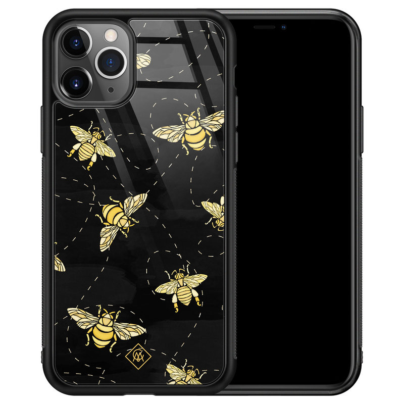 Casimoda iPhone 11 Pro Max glazen hardcase - Bee yourself