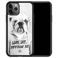 Casimoda iPhone 11 Pro Max glazen hardcase - Bulldog