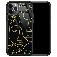 Casimoda iPhone 11 Pro Max glazen hardcase - Abstract faces