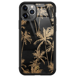 Casimoda iPhone 11 Pro Max glazen hardcase - Palmbomen