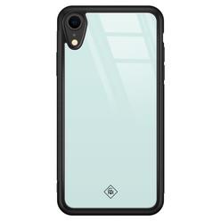 Casimoda iPhone XR glazen hardcase - Pastel blauw