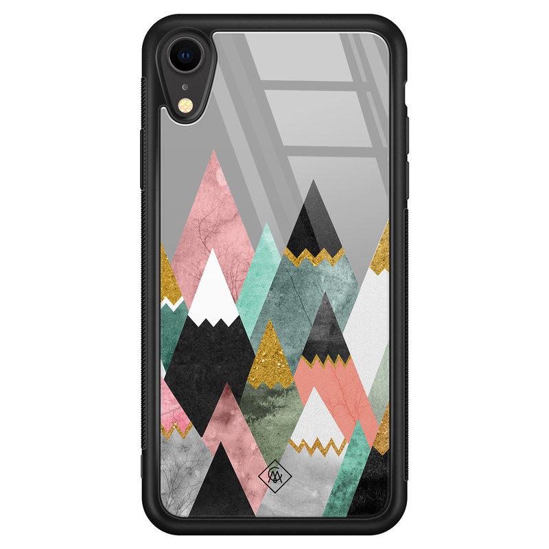 Casimoda iPhone XR glazen hardcase - Marble mountains