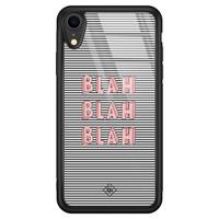 Casimoda iPhone XR glazen hardcase - Blah blah blah