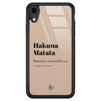 Casimoda iPhone XR glazen hardcase - Hakuna Matata