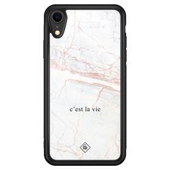 Casimoda iPhone XR glazen hardcase - C'est la vie
