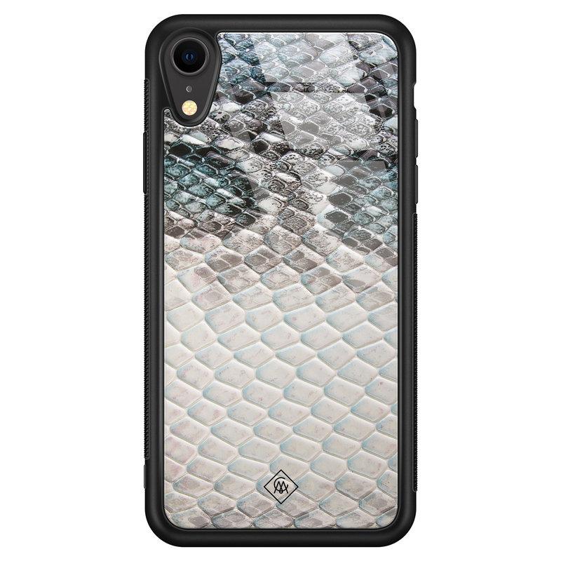 Casimoda iPhone XR glazen hardcase - Oh my snake