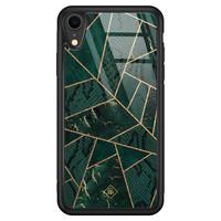 Casimoda iPhone XR glazen hardcase - Abstract groen