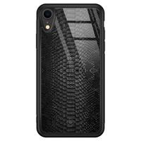 Casimoda iPhone XR glazen hardcase - Black snake