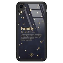 Casimoda iPhone XR glazen hardcase - Family is everything