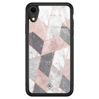 Casimoda iPhone XR glazen hardcase - Stone grid
