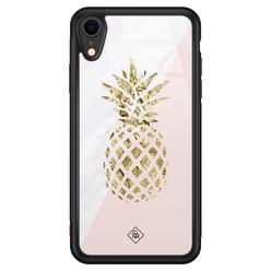 Casimoda iPhone XR glazen hardcase - Ananas