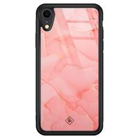 Casimoda iPhone XR glazen hardcase - Marmer roze
