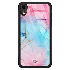 Casimoda iPhone XR glazen hardcase - Marble colorbomb