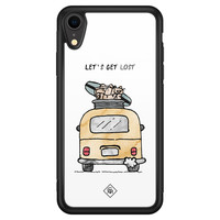 Casimoda iPhone XR glazen hardcase - Let's get lost