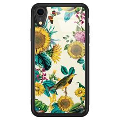 Casimoda iPhone XR glazen hardcase - Sunflowers