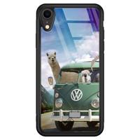 Casimoda iPhone XR glazen hardcase - Lama adventure