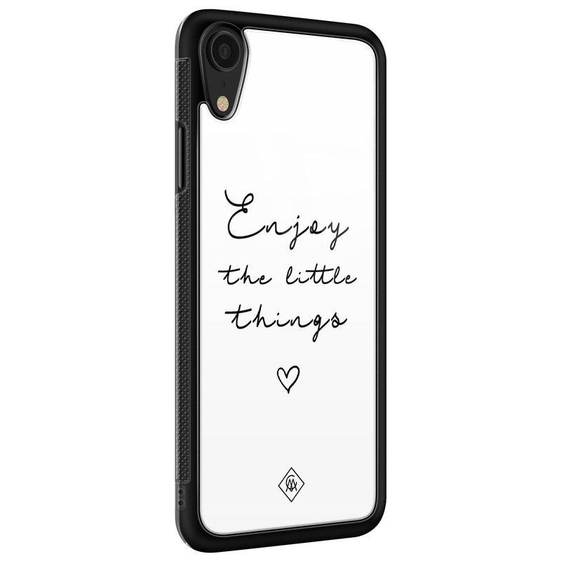 Casimoda iPhone XR glazen hardcase - Enjoy life