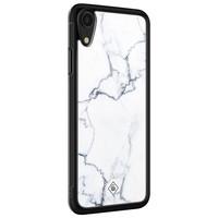 Casimoda iPhone XR glazen hardcase - Marmer grijs