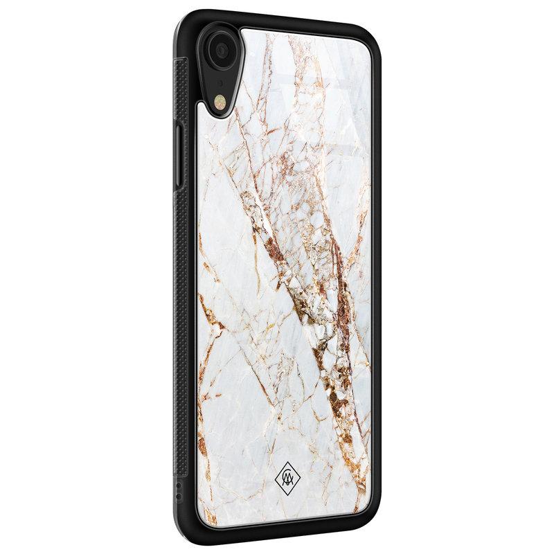 Casimoda iPhone XR glazen hardcase - Marmer goud