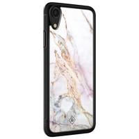 Casimoda iPhone XR glazen hardcase - Parelmoer marmer