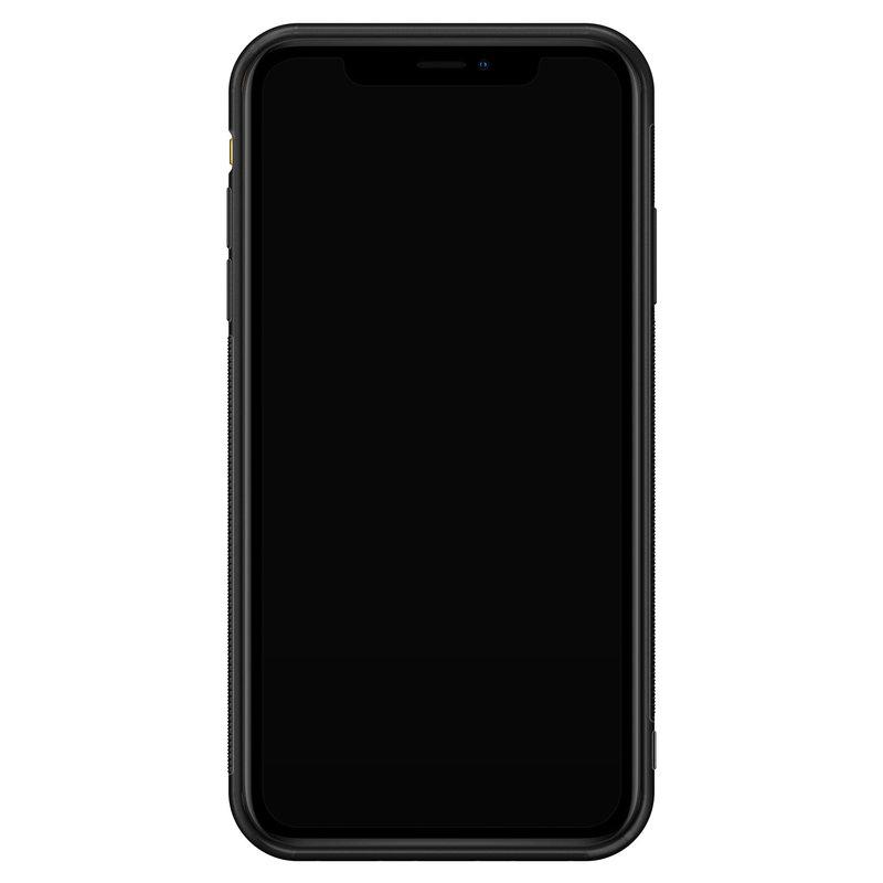 Casimoda iPhone XR glazen hardcase - Luipaard geel