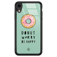 Casimoda iPhone XR glazen hardcase - Donut worry