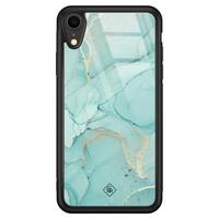 Casimoda iPhone XR glazen hardcase - Touch of mint