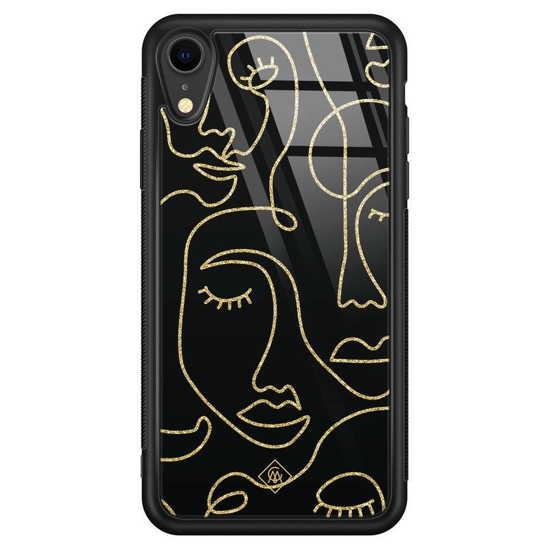 Casimoda iPhone XR glazen hardcase - Abstract faces
