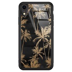 Casimoda iPhone XR glazen hardcase - Palmbomen