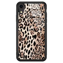 Casimoda iPhone XR glazen hardcase - Golden wildcat