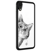 Casimoda iPhone XR glazen hardcase - Peekaboo