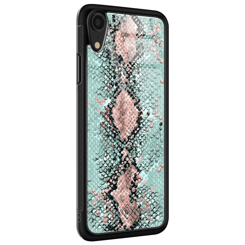 Casimoda iPhone XR glazen hardcase - Baby snake