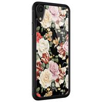 Casimoda iPhone XR glazen hardcase - Flowerpower