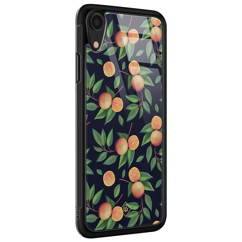 Casimoda iPhone XR glazen hardcase - Orange lemonade