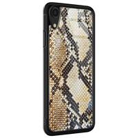 Casimoda iPhone XR glazen hardcase - Golden snake