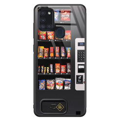 Casimoda Samsung Galaxy A21s glazen hardcase - Snoepautomaat