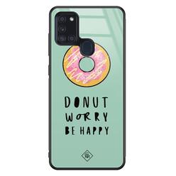 Casimoda Samsung Galaxy A21s glazen hardcase - Donut worry
