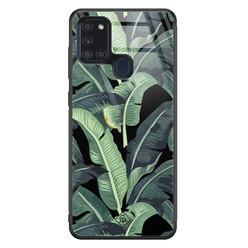Casimoda Samsung Galaxy A21s glazen hardcase - Bali vibe