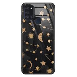 Casimoda Samsung Galaxy A21s glazen hardcase - Counting the stars