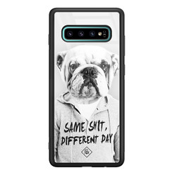 Casimoda Samsung Galaxy S10 Plus glazen hardcase - Bulldog