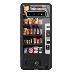 Casimoda Samsung Galaxy S10 Plus glazen hardcase - Snoepautomaat