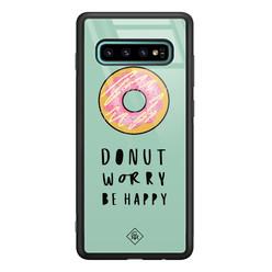 Casimoda Samsung Galaxy S10 Plus glazen hardcase - Donut worry