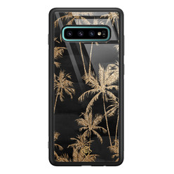Casimoda Samsung Galaxy S10 Plus glazen hardcase - Palmbomen