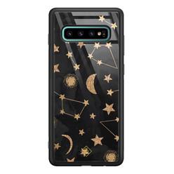 Casimoda Samsung Galaxy S10 Plus glazen hardcase - Counting the stars