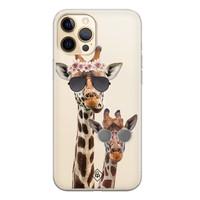 Casimoda iPhone 12 Pro transparant hoesje - Giraffe