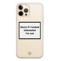 Casimoda iPhone 12 Pro transparant hoesje - Not interested